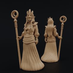 DokkalfQueen.png Download free STL file Dokkalf Queen • 3D printing model, Dutchmogul