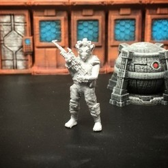 Download free 3D printer files Rodian Rebel Trooper (FDM optimized, 28mm/Heroic scale), Dutchmogul