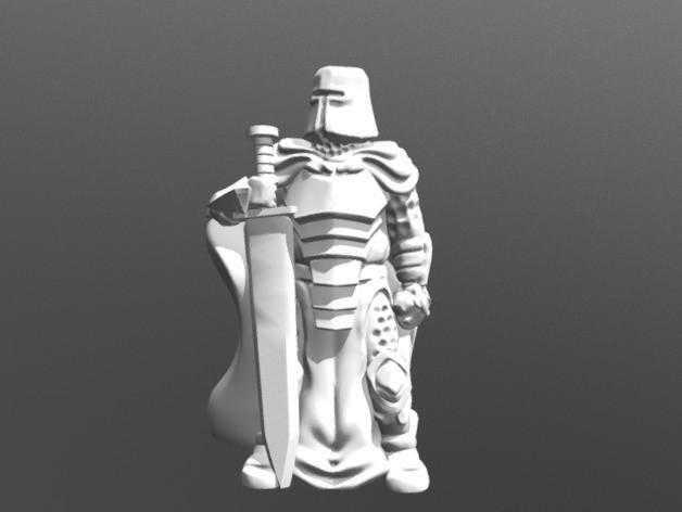 2221ec1df120d149fb0f279692488040_preview_featured.jpg Télécharger fichier STL gratuit Chevalier avec épée (28mm / échelle héroïque) • Objet imprimable en 3D, Dutchmogul