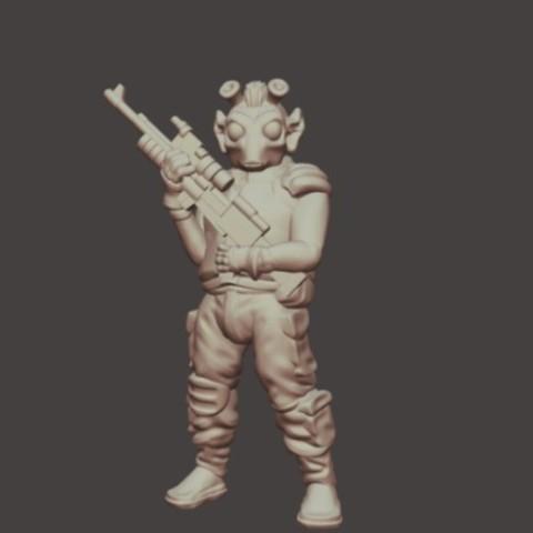 7dd0211073097b5a95206c984e8c8e5d_preview_featured.jpg Download free STL file Rodian Rebel Trooper (FDM optimized, 28mm/Heroic scale) • 3D printable design, Dutchmogul
