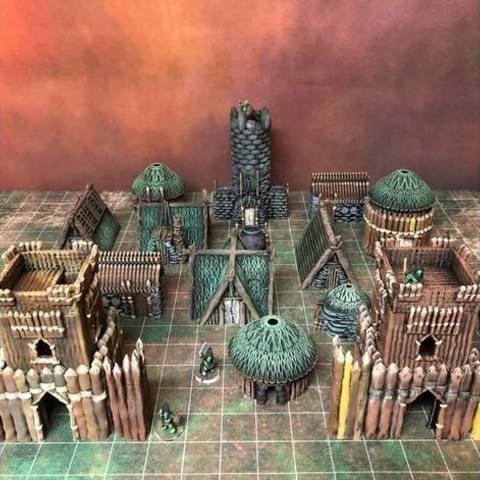 67747b83cbf494375b673b06a4ba5c42_preview_featured.jpg Download free STL file Kyn Finvara: Goblin Fort Wall (Heroic scale) • Model to 3D print, Dutchmogul