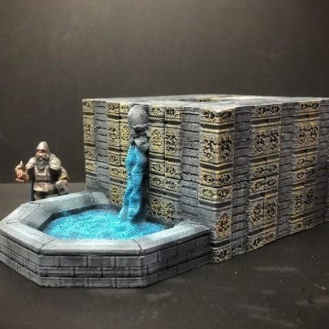 ff9b95b8e5d47e6e9c85f49ae7f58377_preview_featured.jpg Download free STL file ScatterBlocks: Dwarven Fountain (28mm/Heroic scale) • 3D print object, Dutchmogul