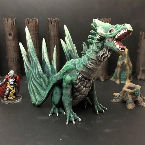 Free 3D printer designs Forest Dragon (Redux), Dutchmogul
