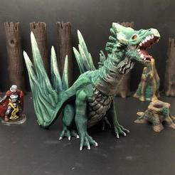 Free 3D printer designs Forest Dragon (Redux), Dutchmogul