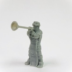 Download free 3D printer model Townsfolke: Trumpeter (32mm scale), Dutchmogul