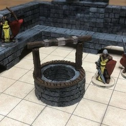 Free 3d printer files ScatterBlocks: Village Well (28mm/Heroic scale), Dutchmogul