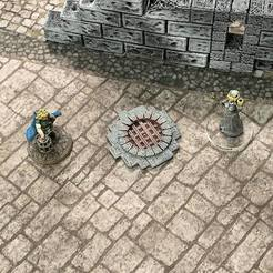 Free STL files Sewer Entrance Marker (28mm/32mm scale), Dutchmogul