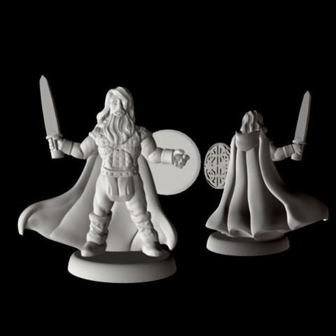 Download free STL file Champion of Midgard (18mm scale) • 3D printer object, Dutchmogul