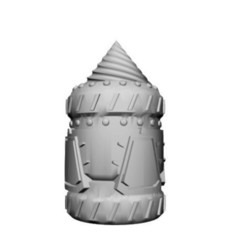 Download free 3D printer designs Dwarven Loamship, non-submerged (15mm scale), Dutchmogul