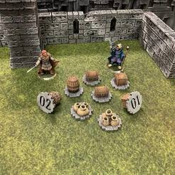 Free 3D printer files Numeric Fantasy Objective Markers (28mm/32mm scale), Dutchmogul