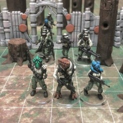 Download free STL Alien Rebel Troopers (28mm/Heroic scale), Dutchmogul