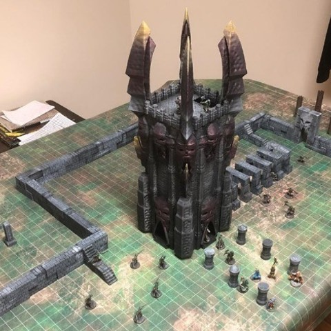 96ddb7bbdbb2892c2fcef6a3a7c0fc1e_preview_featured.jpg Download free STL file Tower of Darkness (28mm/Heroic scale) • 3D printer template, Dutchmogul