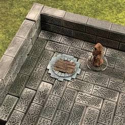 Free STL Sewer Entrance Marker (variant) (28mm/32mm scale), Dutchmogul