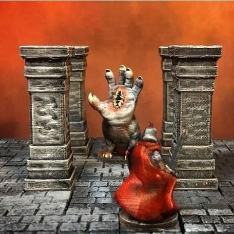 Free stl files ScatterBlocks: Tall Stone Pillar (Heroic scale), Dutchmogul