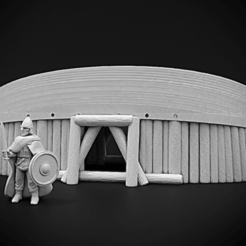 BoatShelter.png Download free STL file Viking Boat Shelter • 3D printing object, Dutchmogul