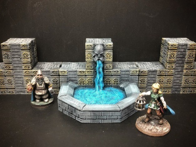 4435f4e8f1c52e4f999531ff49dda5e0_preview_featured.jpg Download free STL file ScatterBlocks: Dwarven Fountain (28mm/Heroic scale) • 3D print object, Dutchmogul