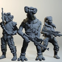 Free 3d printer files Sculptris Dummies: Star Wars Alien Rebels, Dutchmogul
