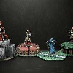 Free 3D print files Heroes of the Eidermarch (D6Modular Quest Expansion), Dutchmogul