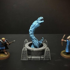 Free 3d printer model Delving Decor: Water Serpent (28mm/Heroic scale), Dutchmogul