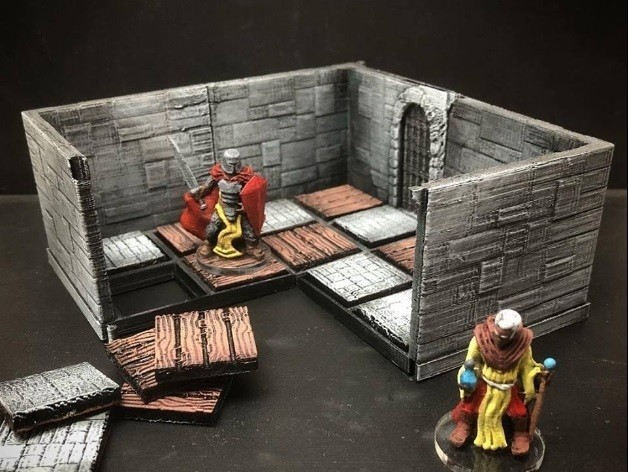 a2738849c48a9033dc82844f0c17bdb0_preview_featured.jpg Download free STL file ZDungeon (experimental dungeon tiles) • 3D printable object, Dutchmogul
