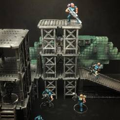 Descargar STL gratis ScatterBlocks: Plataformas industriales (escala 28mm/32mm), Dutchmogul