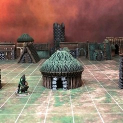 Download free 3D printing files Kyn Finvara Goblin Hut (Heroic scale), Dutchmogul