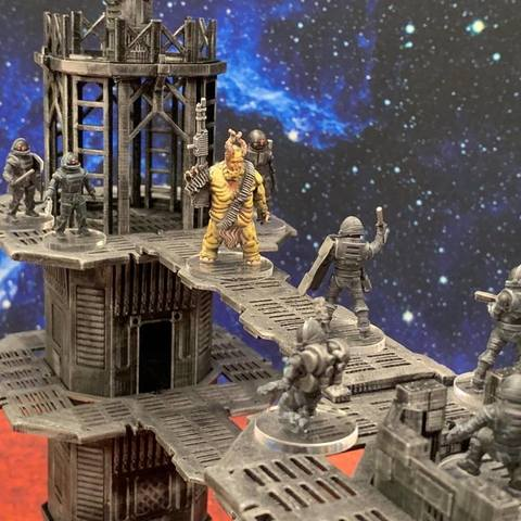 Download free 3D printer designs Demon Machine Gunner (32mm scale), Dutchmogul