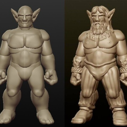 Download free 3D print files Sculptris Dummy: Firbolg