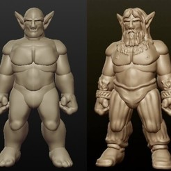 archivos stl Sculptris Dummy: Firbolg (Masculino) gratis, Dutchmogul