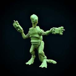 Photo_May_12_12_53_52_PM.jpg Download free STL file Reptiloid Gunslinger • 3D printer design, Dutchmogul