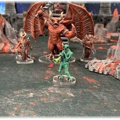 Free 3D print files Kingdoms of Hell: Piper Demon (28mm/32mm scale), Dutchmogul