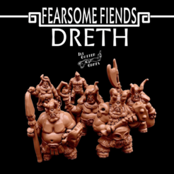 FFD.png Download free STL file Fearsome Fiends: Dreth • Model to 3D print, Dutchmogul