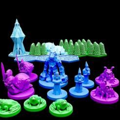 PTwizz1.png Télécharger fichier STL gratuit Tactiques de poche : Les sorciers de la forêt de cristal • Objet pour impression 3D, Dutchmogul