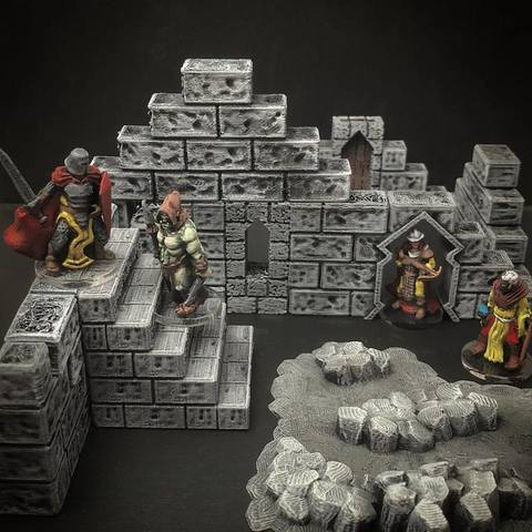 Descargar Modelos 3D para imprimir gratis ScatterBlocks: Paredes de piedra (escala 28mm/32mm), Dutchmogul