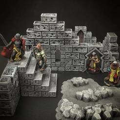 Archivos STL gratis ScatterBlocks: Paredes de piedra (escala 28mm/32mm), Dutchmogul