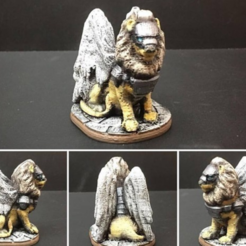 Free 3d print files Celestial Lion (28mm/Heroic scale), Dutchmogul