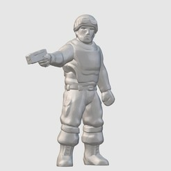 Download free STL file Station Security Officer (28mm/32mm scale), Dutchmogul