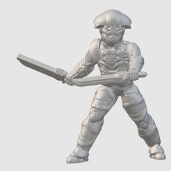 Free 3D printer model Cyber-Dervish (28mm/32mm scale), Dutchmogul