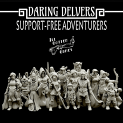 FFD.png Download free STL file Daring Delvers: Support Free Adventurers • 3D print template, Dutchmogul