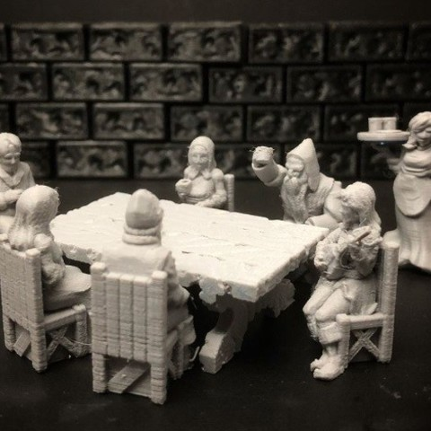 bd9e958cd60863f318d4169e4dd56e45_preview_featured.jpg Download free STL file Townsfolke: Tavern Patrons (28mm/32mm scale) • 3D printing template, Dutchmogul