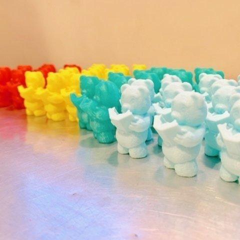 Free 3D printer designs Reading Teddy Bear Figurine, Dutchmogul