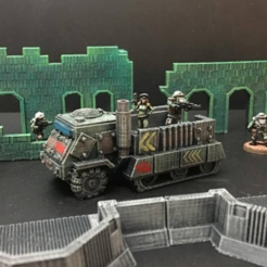 Download free STL files  15mm Sci-Fi Space Junker War Truck (baseless remix), Dutchmogul