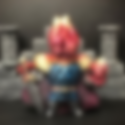 Flaymon.stl Download free STL file Flaymon, the Fire Knight • 3D print template, Dutchmogul
