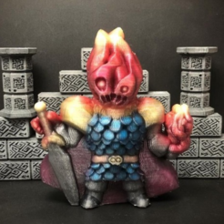 Free 3d print files Flaymon, the Fire Knight, Dutchmogul