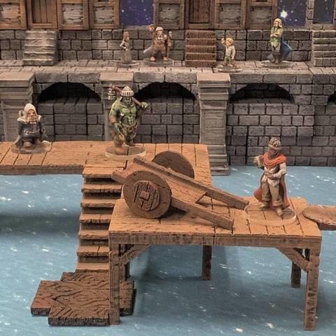 Free 3D model Delving Decor: Shoddy Cart (28mm/32mm scale), Dutchmogul
