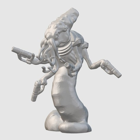 Download free STL file Quanar Gunslinger (28mm/32mm scale), Dutchmogul