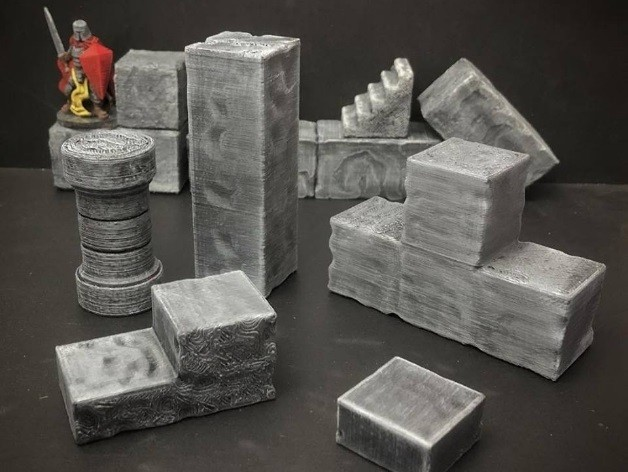60cf5690cd3af643750f838244820b97_preview_featured.jpg Download free STL file ScatterBlocks: Cyclopean Stone Parts Expansion (28mm/Heroic scale) • Template to 3D print, Dutchmogul