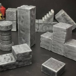 Free 3D printer model ScatterBlocks: Cyclopean Stone Parts Expansion (28mm/Heroic scale), Dutchmogul