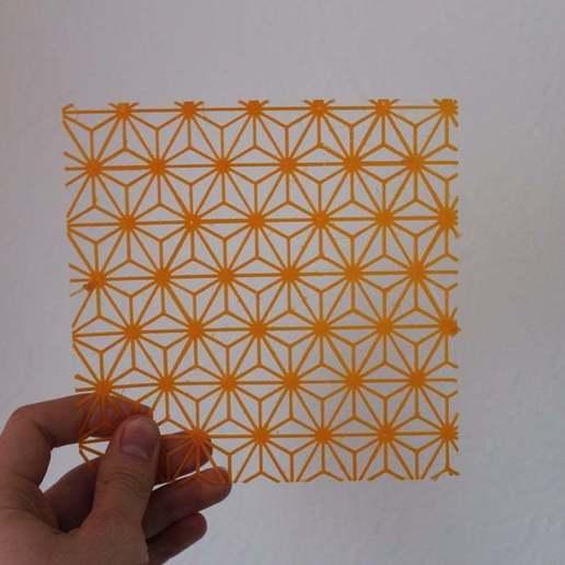 Télécharger fichier STL gratuit Pochoir d'étoiles géométriques • Modèle à imprimer en 3D, liamrichards25
