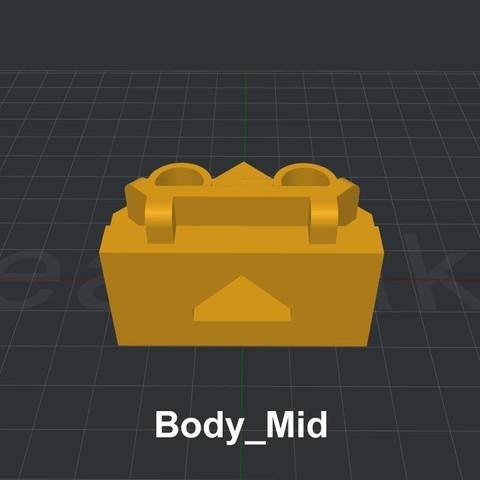 Body_Mid.jpg Download STL file LiL FRONT LOADER • 3D printable template, biglildesign